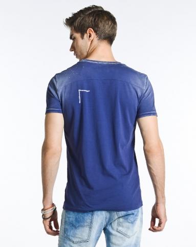 diesel男士服装精品专场男款贴袋怀旧暗蓝色短袖t恤00