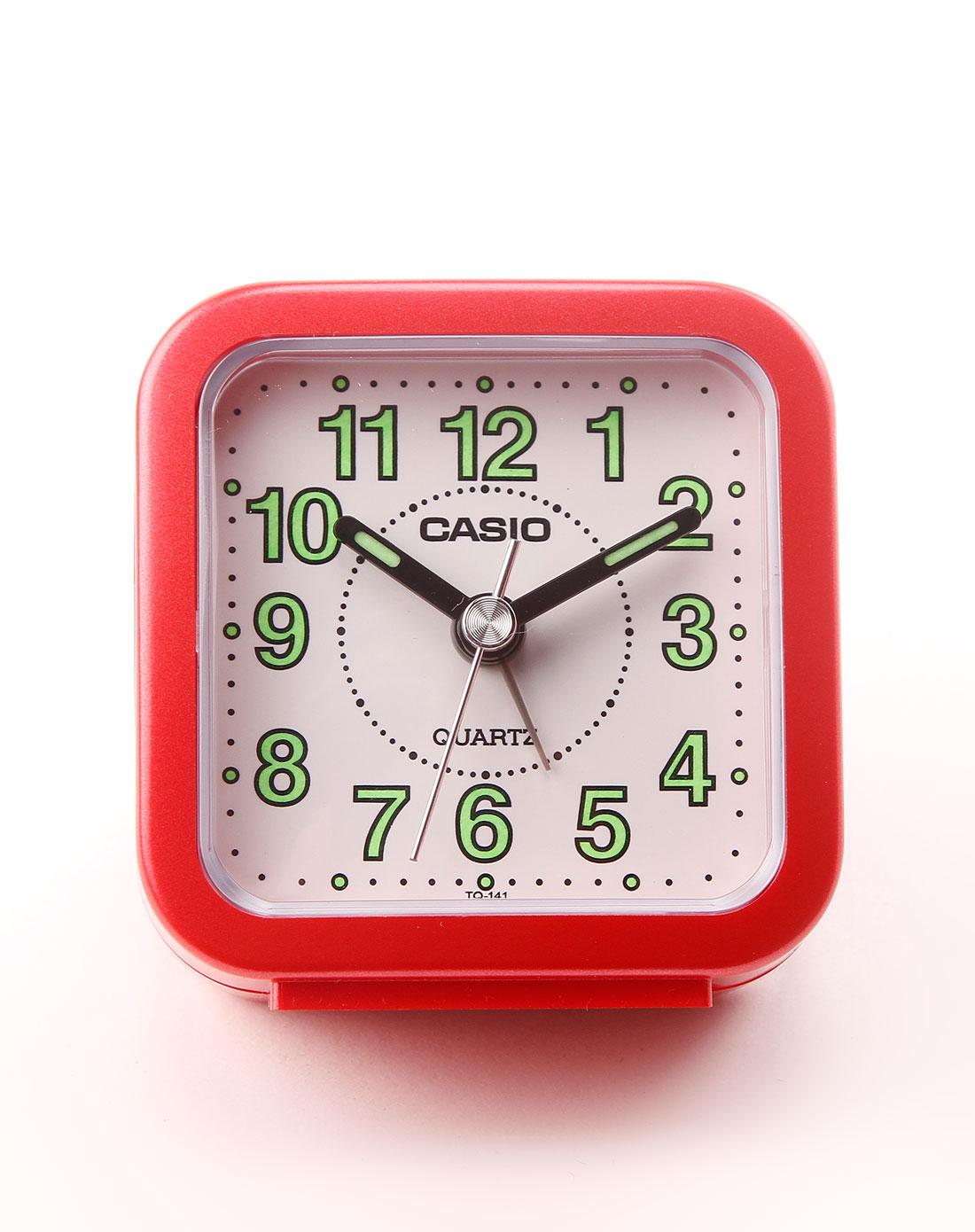 红/白色正方形闹钟