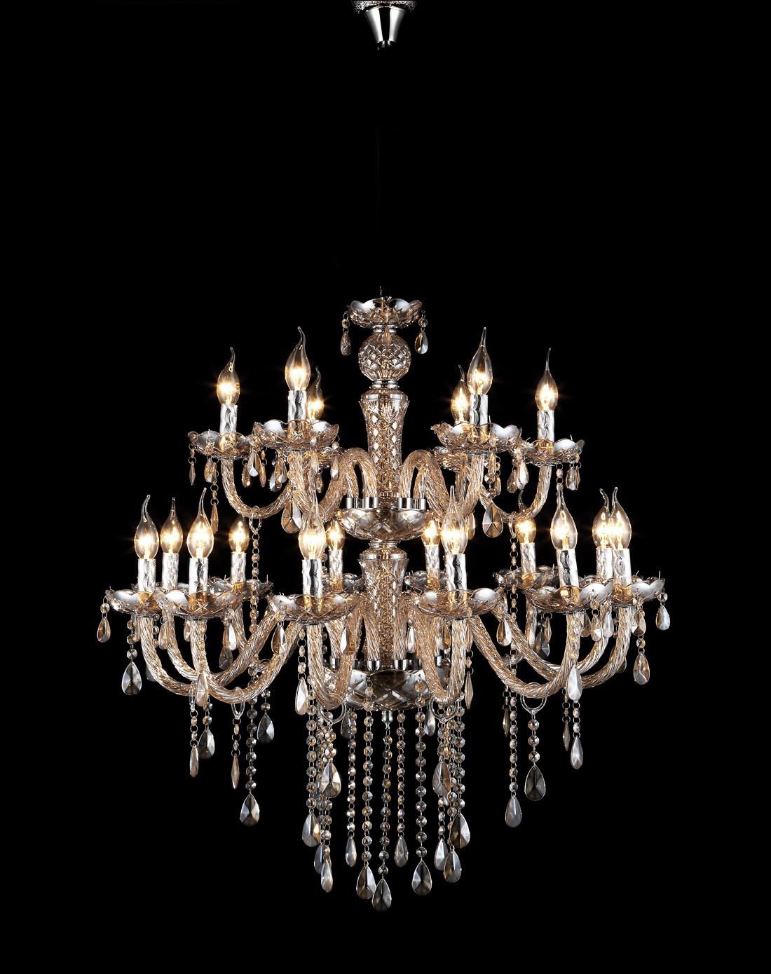 欧式客厅卧室水晶吊灯18头金粉世家