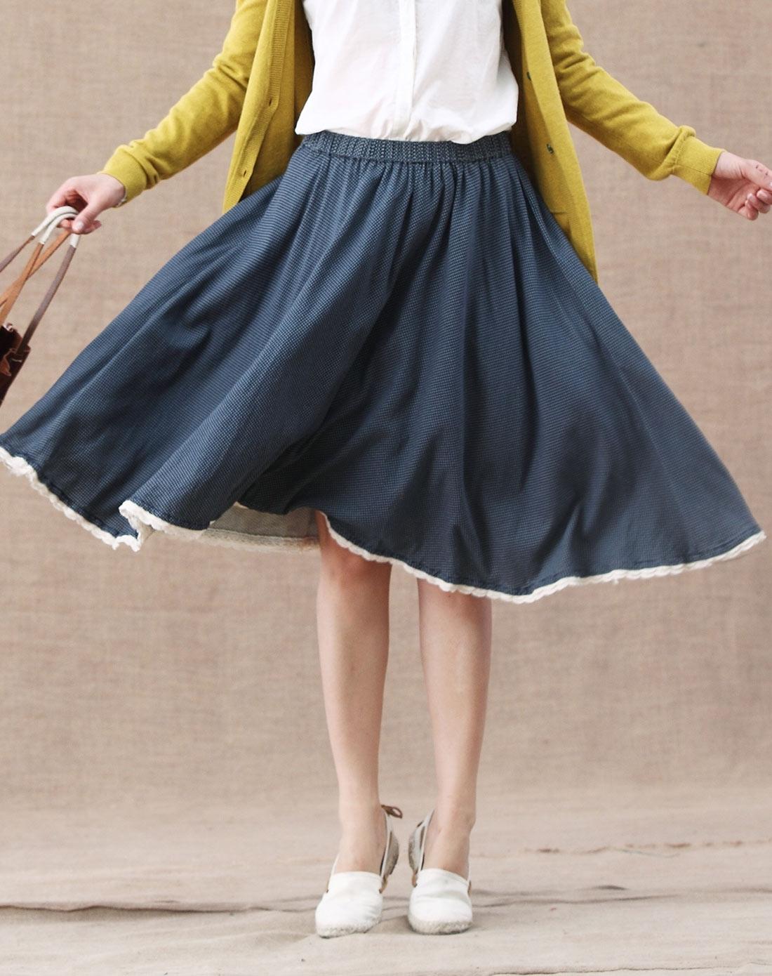 裙子-半身裙半裙款式图