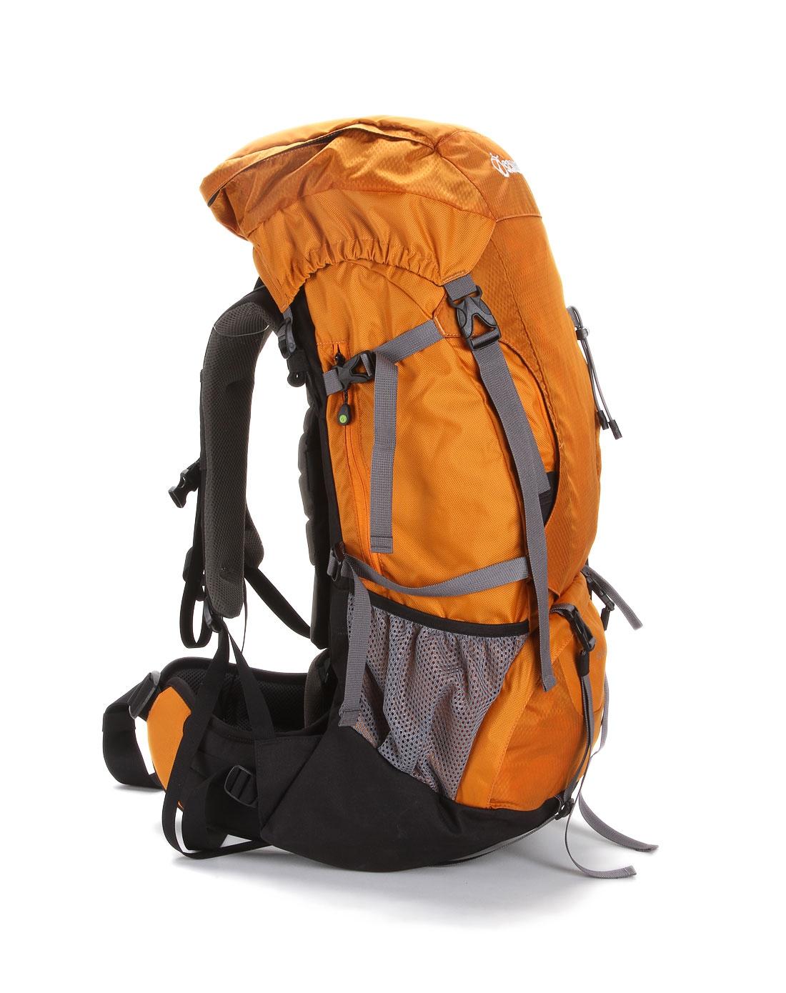 中性大容量橙色登山背包