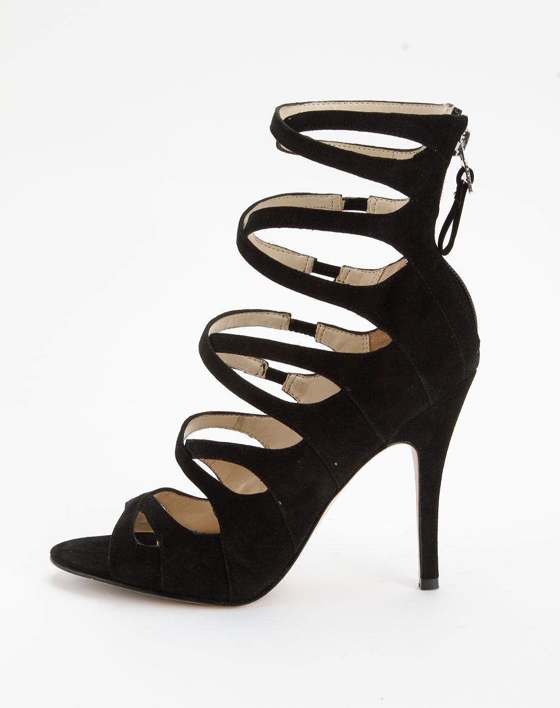 黑色个性时尚高跟鞋