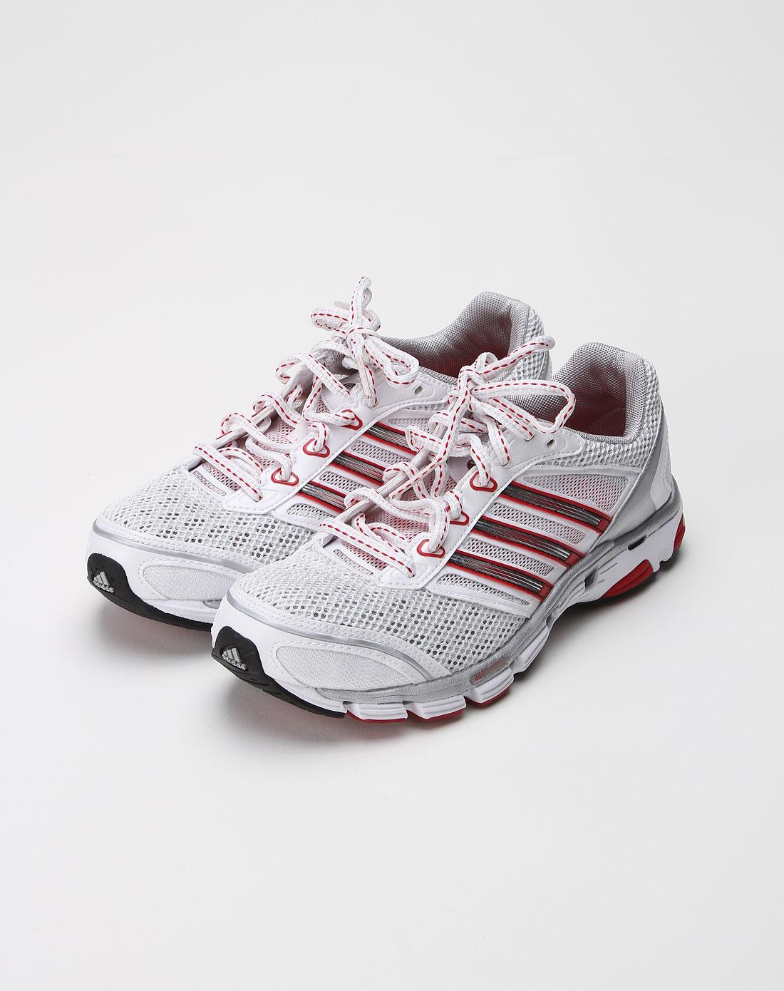 阿迪达斯adidassp女款红/白色网布系带运动鞋054167
