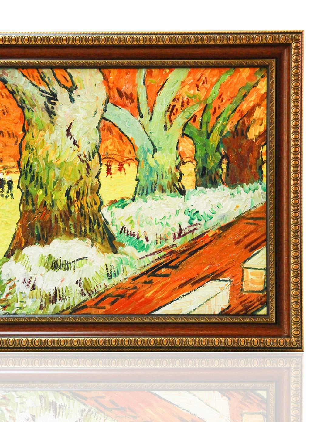 手绘著名油画-梵高梧桐树群