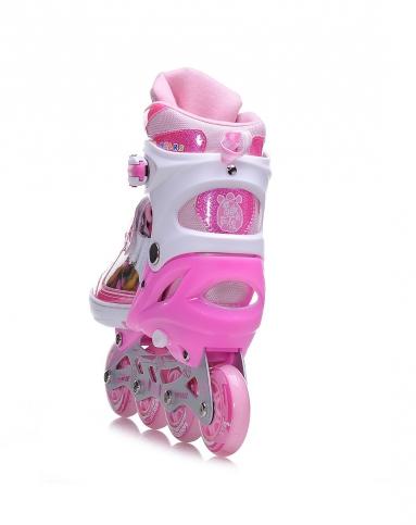 粉色儿童溜冰鞋