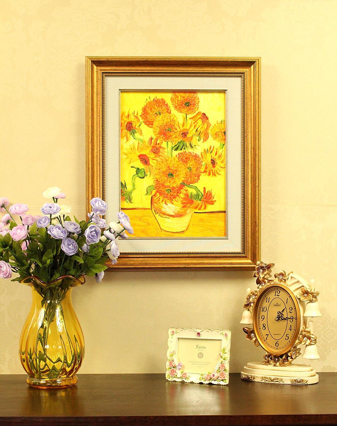纯手绘油画-梵高向日葵yh-1006