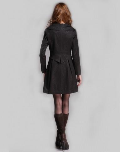 黑风衣女_长款黑风衣搭配图片女