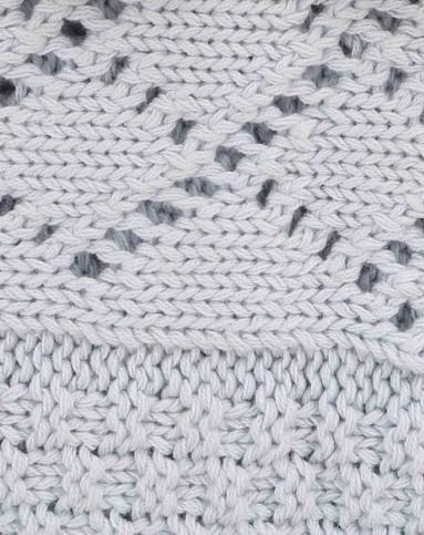 中性浅蓝婴儿纯棉编织花纹毛毯