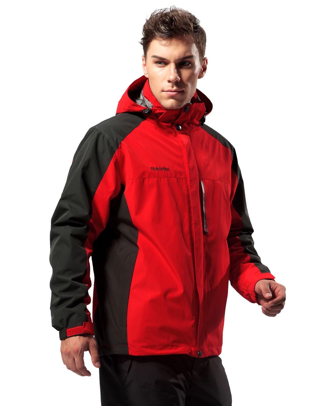大红色冲锋衣两件套