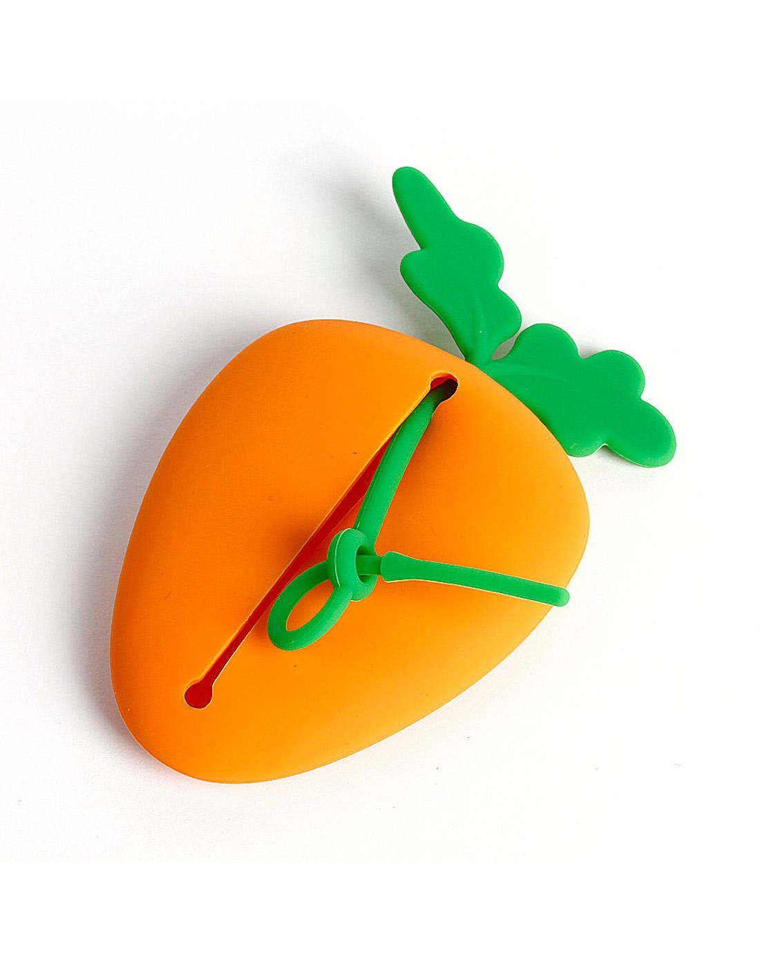 胡萝卜弹性硅胶钥匙包
