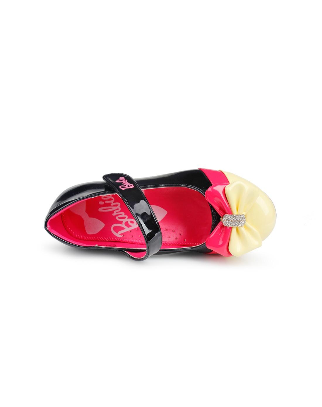 知名品牌童鞋芭比 女童黑色可爱公主皮鞋yroda1135