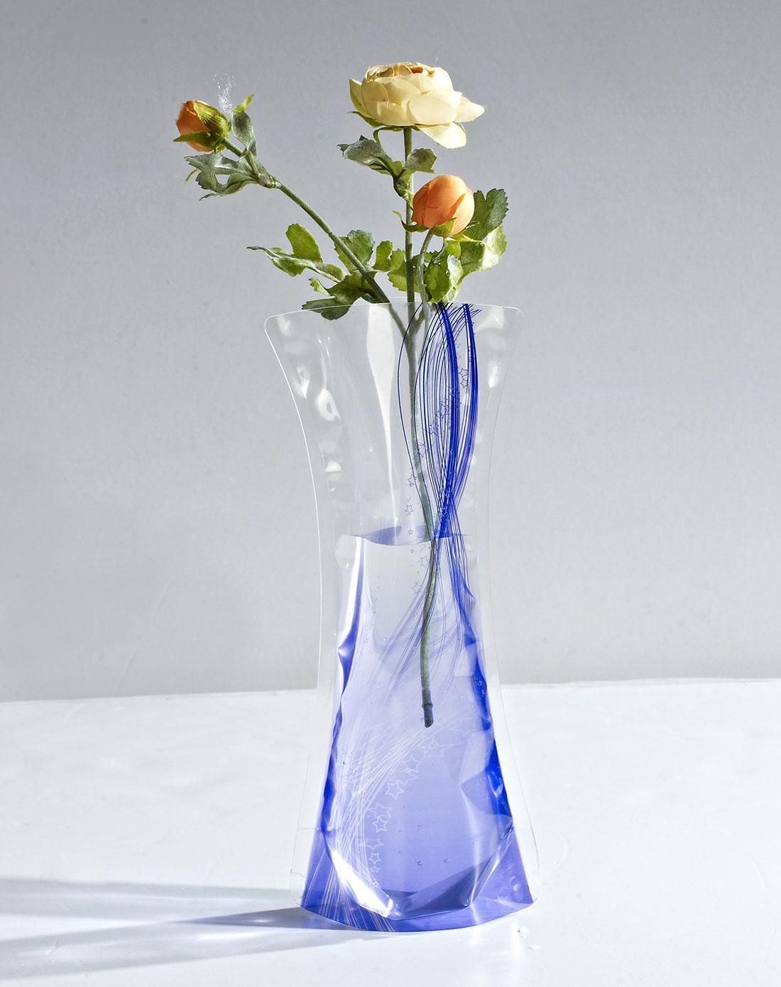 流线时尚折叠塑料花瓶(紫)