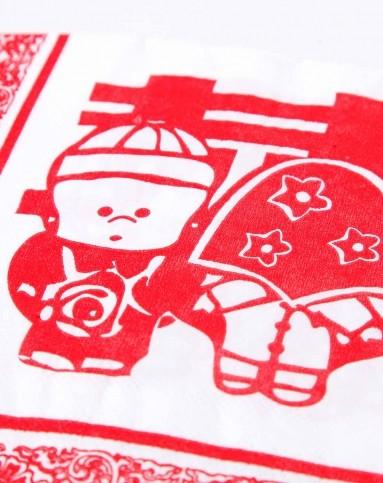 双喜正方形双层餐巾