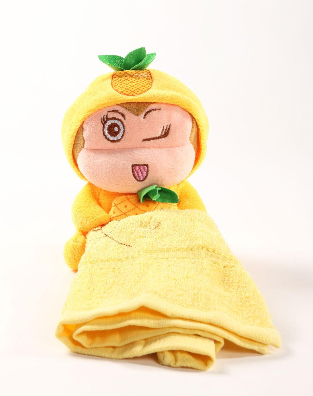 黄色卡通宝贝系列动物造型水果猴毛巾挂架(附毛巾)