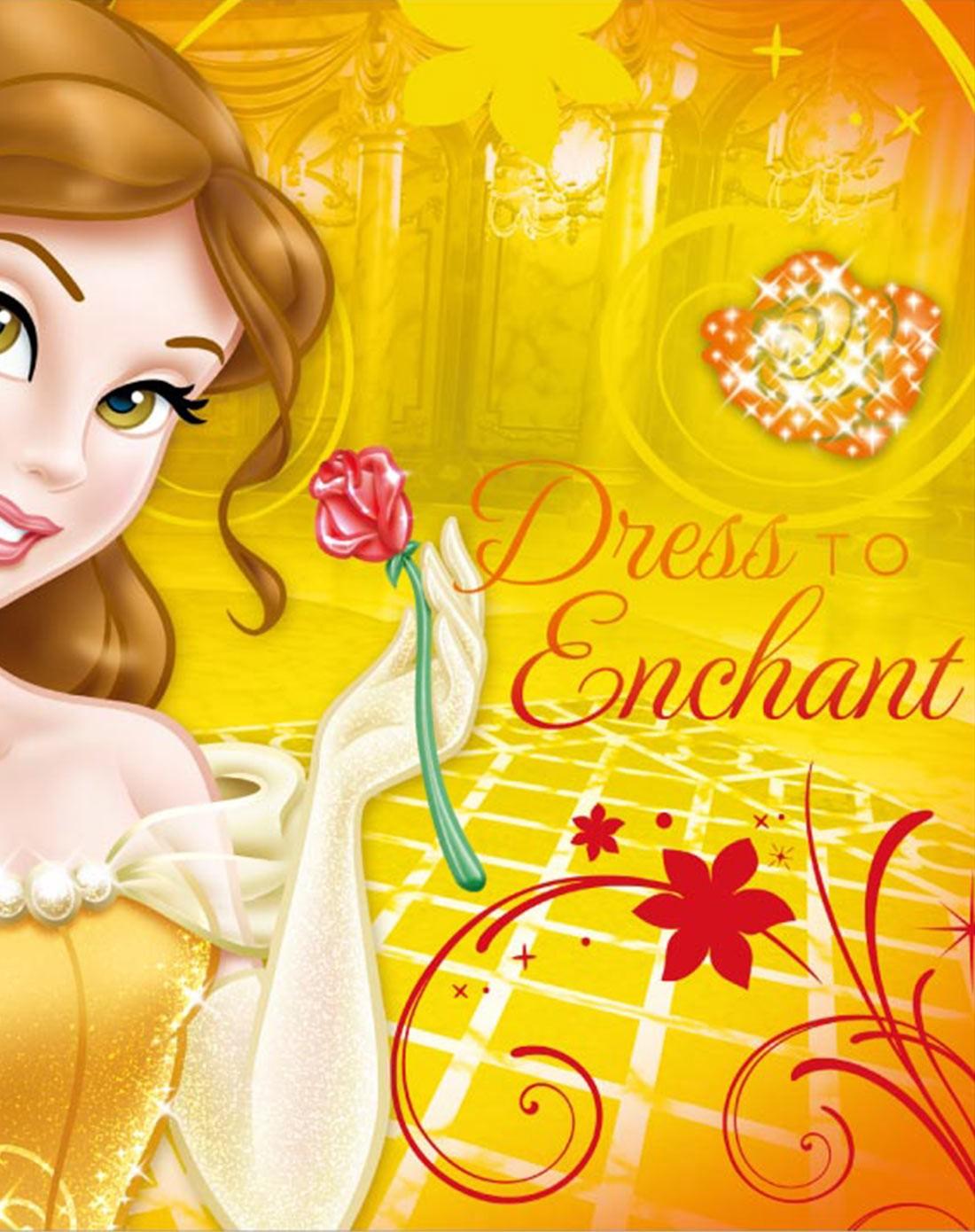 迪士尼disney儿童家具专场挂画-贝儿公主欢乐时光
