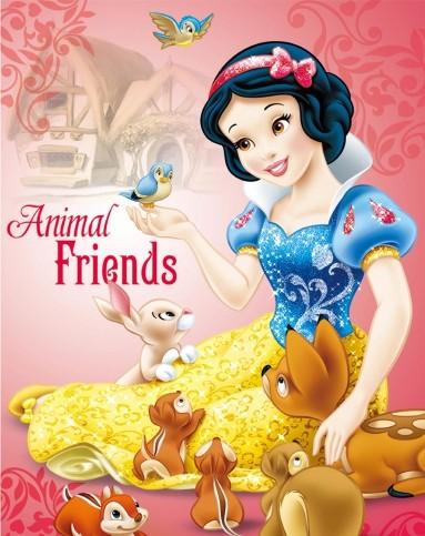 迪士尼disney儿童家具专场挂画-白雪公主之动物情缘