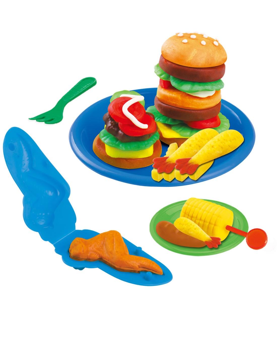 儿童创意彩泥汉堡套装