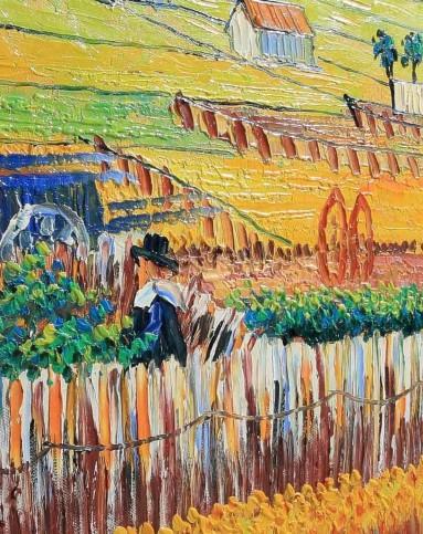 经典油画梵高系列-收获的风景