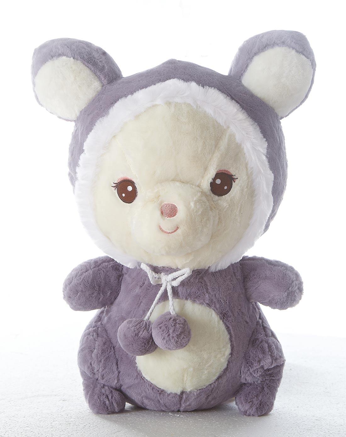 可爱灰色狐狸熊公仔45cm