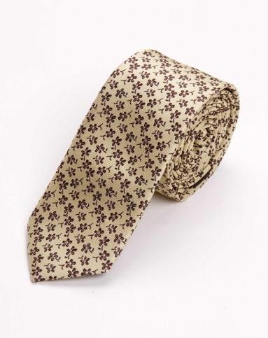 黑色梅花提花纹领带