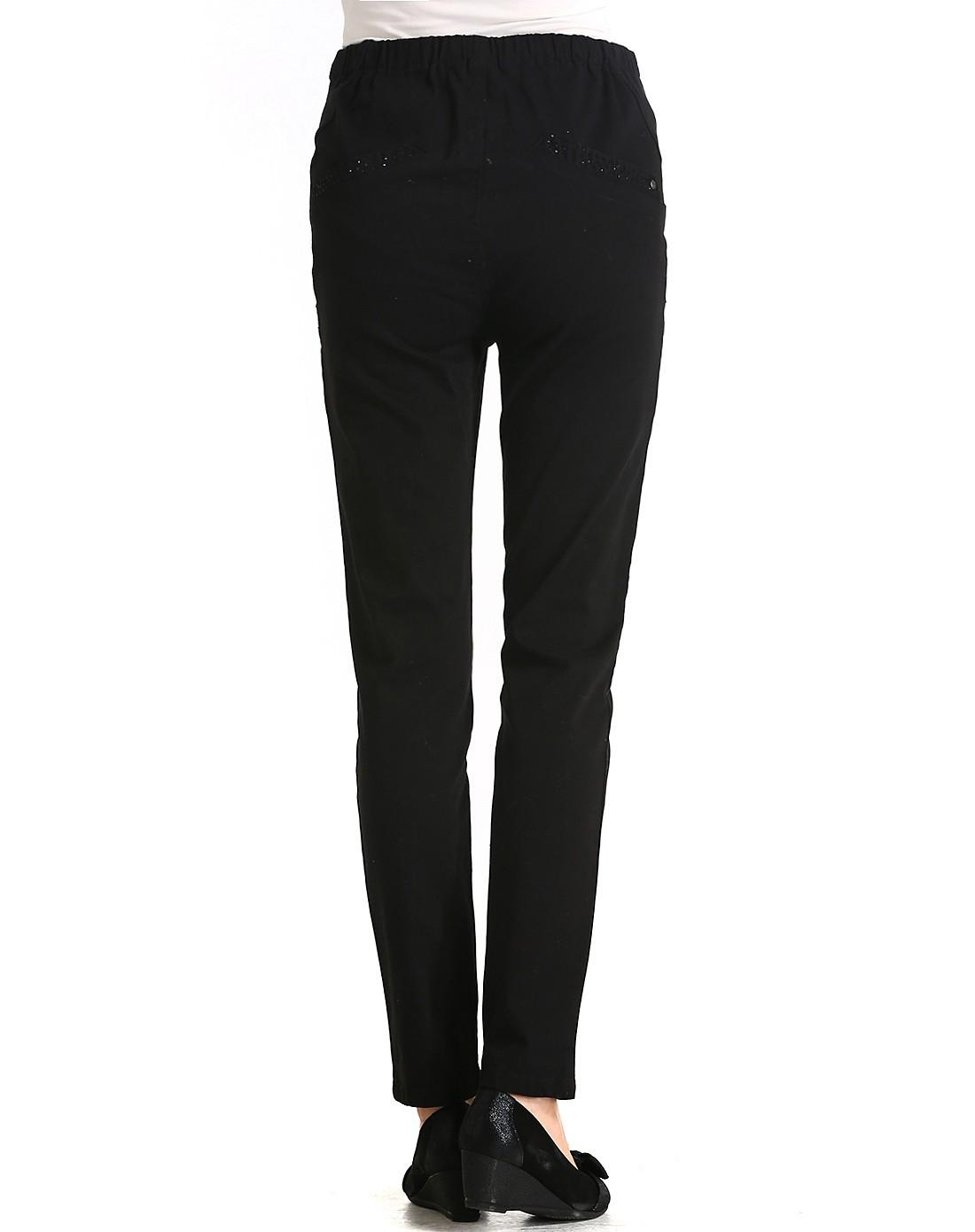 女黑色铅笔裤