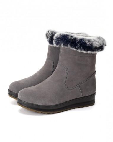 哈森harson集团品牌女鞋弗洛斯flossie女款灰色羊京图片