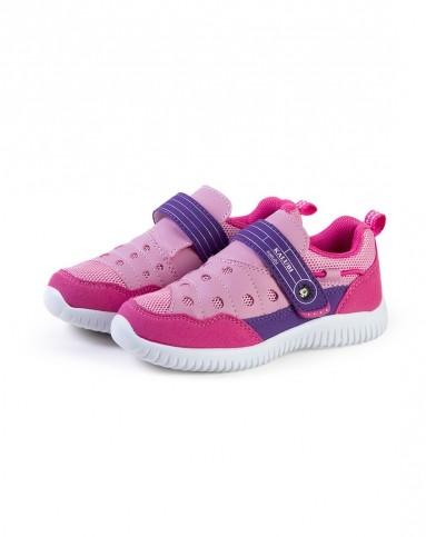 儿童运动鞋咔路比 女童玫红/粉红色舒适休闲鞋