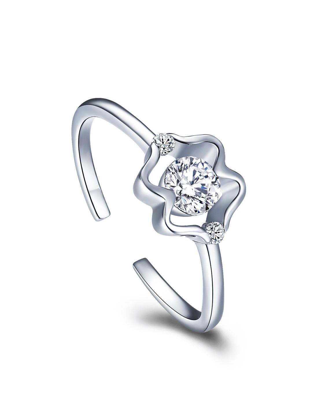 925纯银十二星座开口戒指