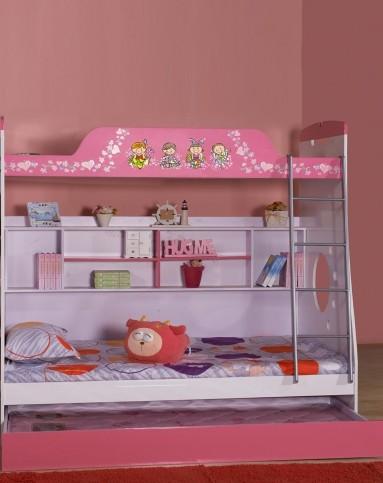 家有儿女儿童家具专场公主风子母三层床jyen6113gzpw
