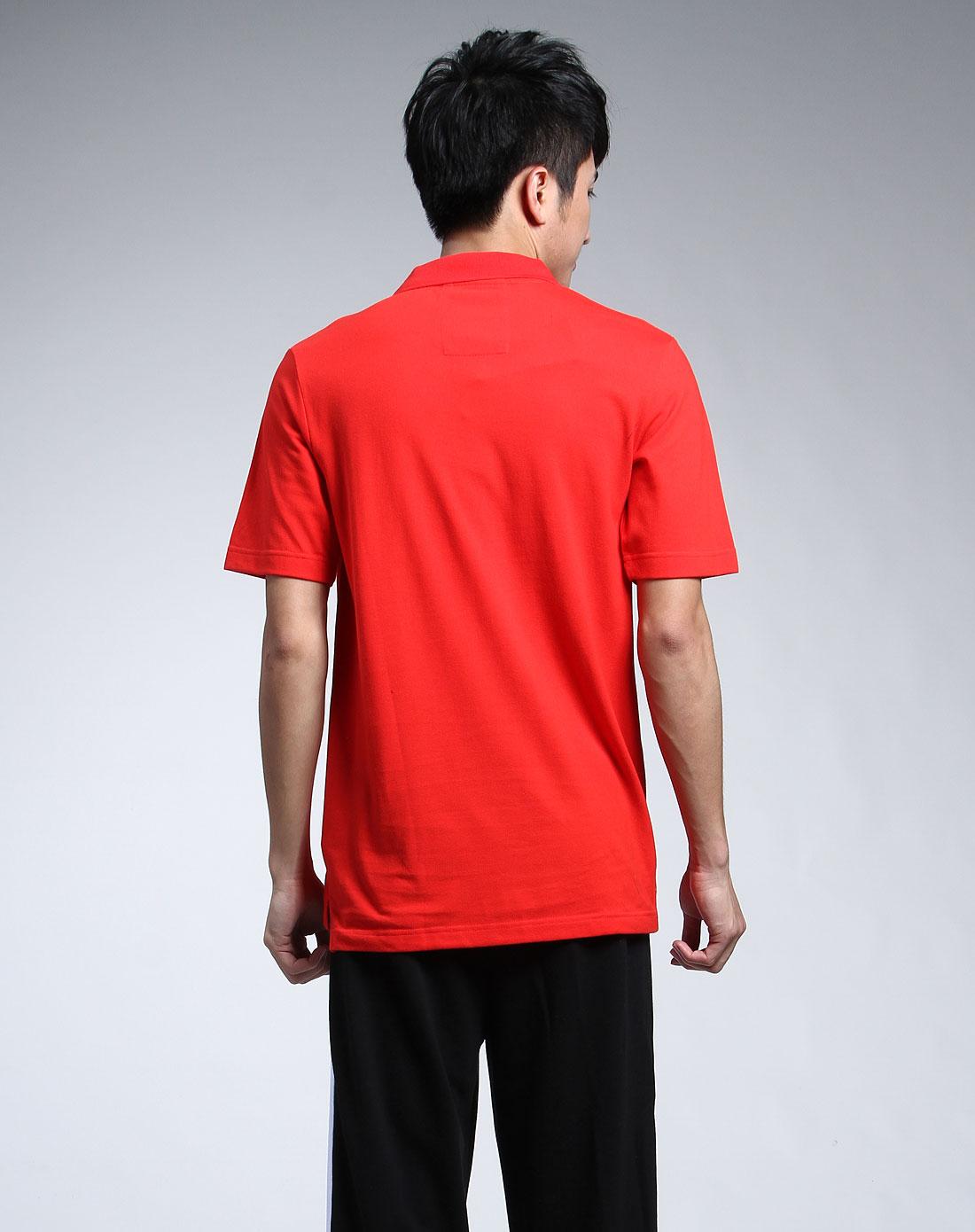 卹�m�#x�F{�Fp_大红色时尚标致短袖polo衫恤
