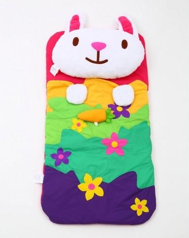 泰国进口儿童全棉动物造型便携游戏睡袋-兔与萝卜