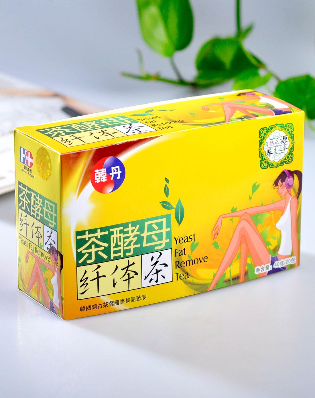 茶酵母纤体茶 韩丹袋泡茶组 40克