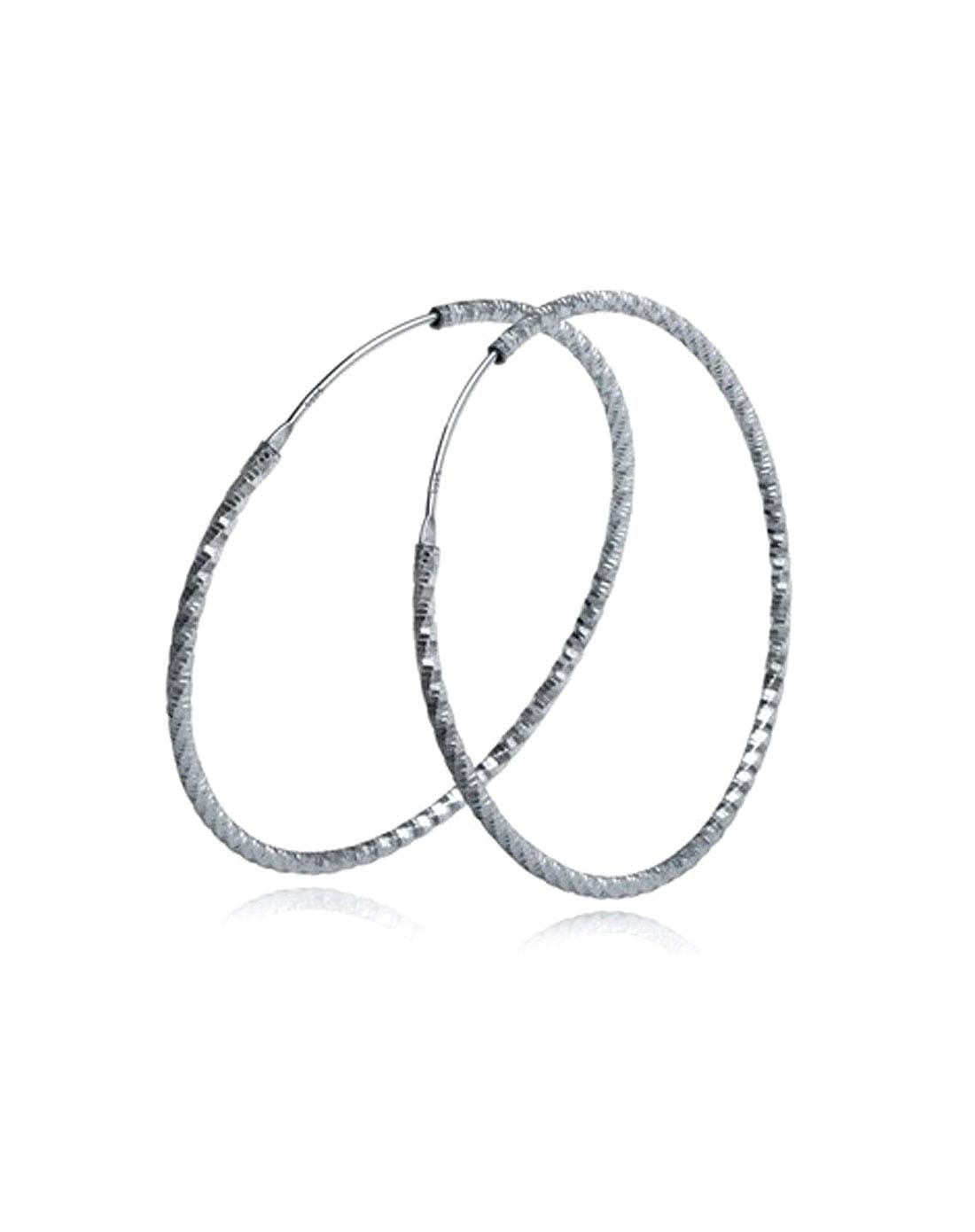 925纯银大圆圈耳环3cmx1mm空心耳圈