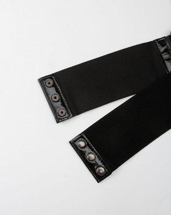 ppt 黑色链条装饰腰带