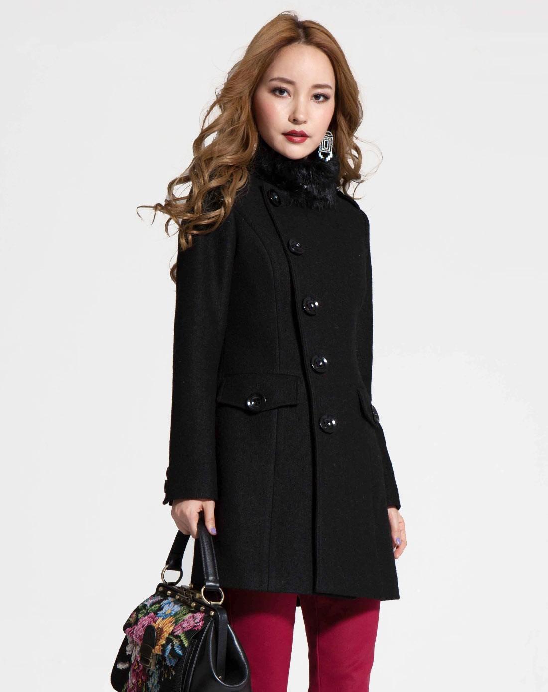 新款羊毛绒大衣_女羊驼绒大衣质量比较好 羊驼绒大衣女中长款2017新款网上专卖