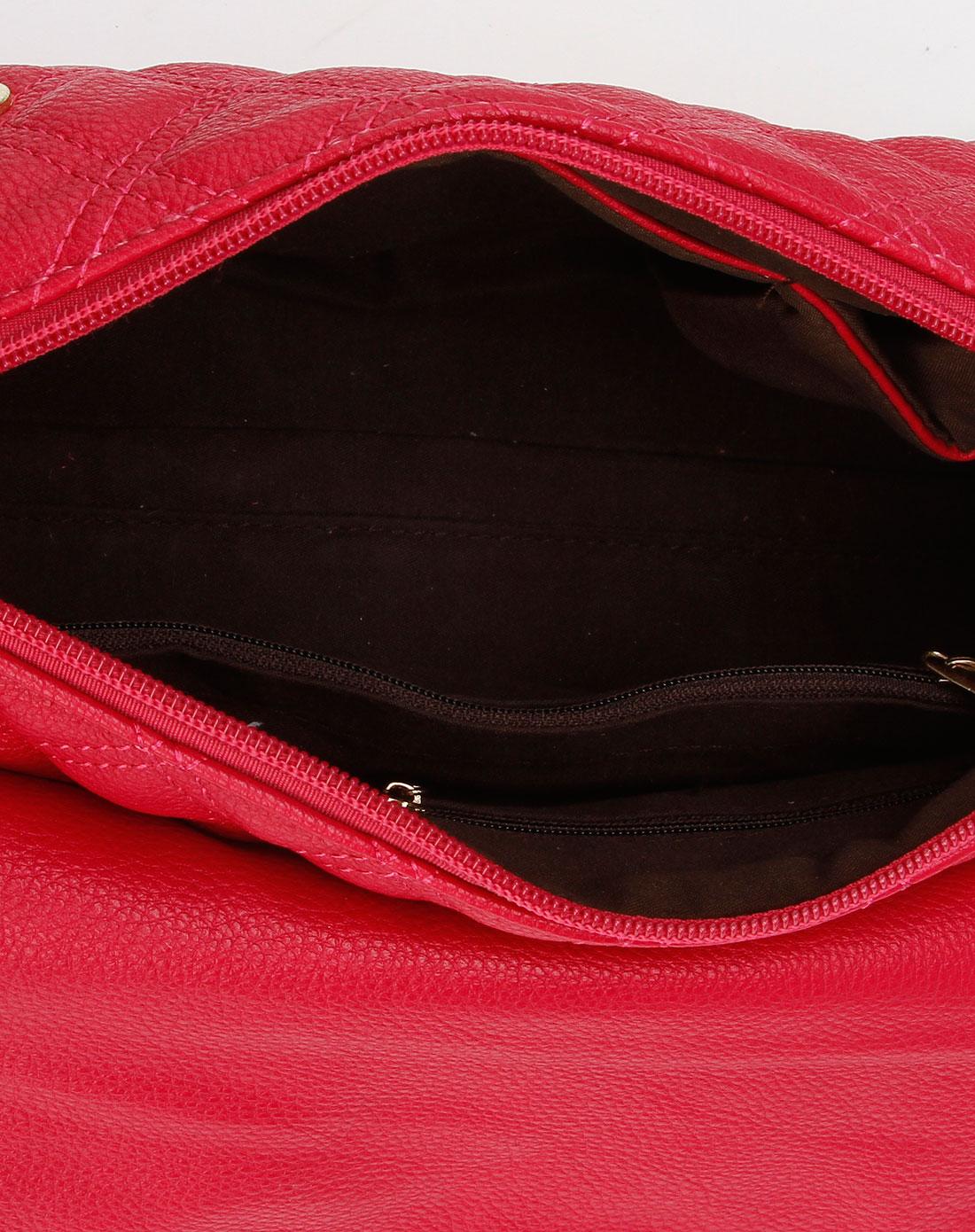 ggirl 红色菱形格子系列时尚斜挎包