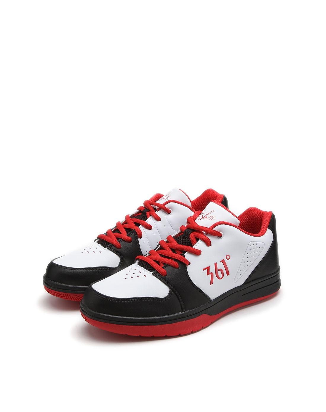 361°男女男款白配红色篮球鞋