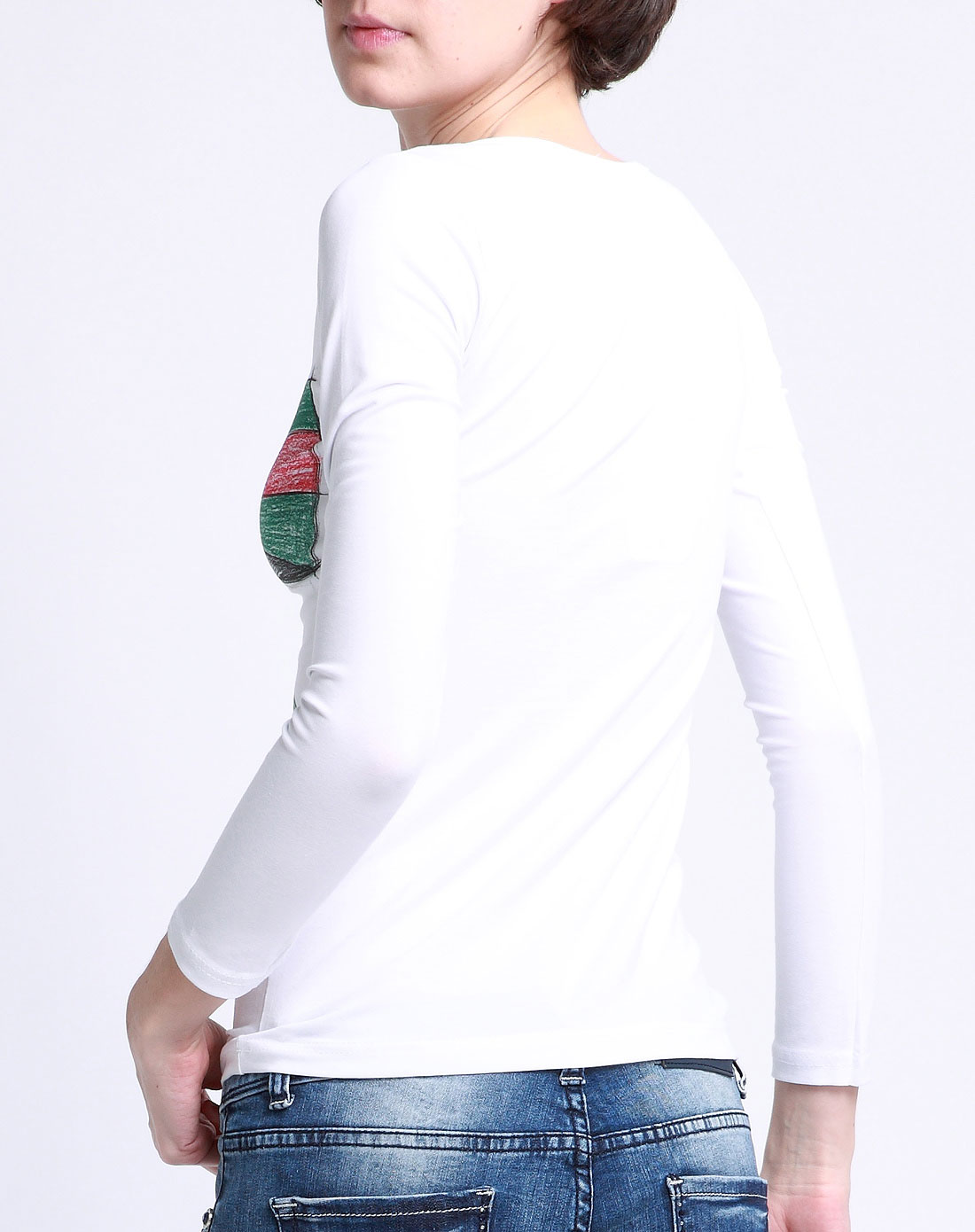经典款白t恤女