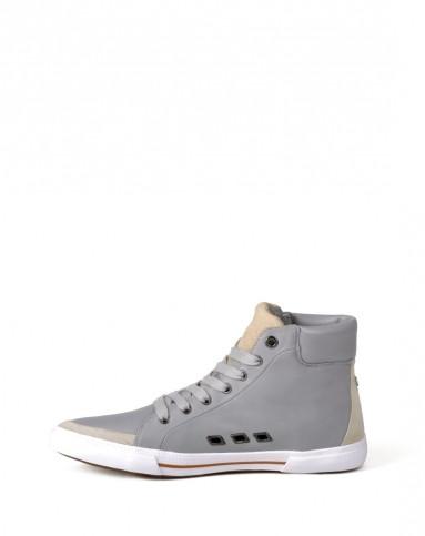 玛莎拉蒂灰色牛皮休闲鞋