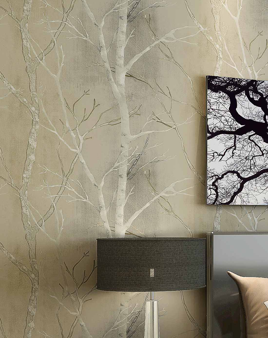 旗航壁纸 现代简约 仿树枝 环保纯纸壁纸