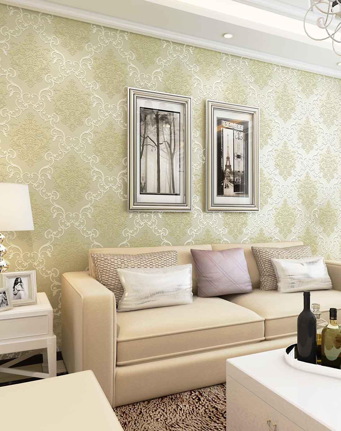 旗航大马士革欧式卧室背景墙壁纸
