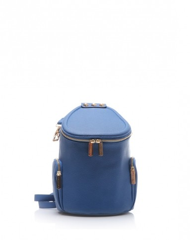时尚个性深蓝色圆形桶包
