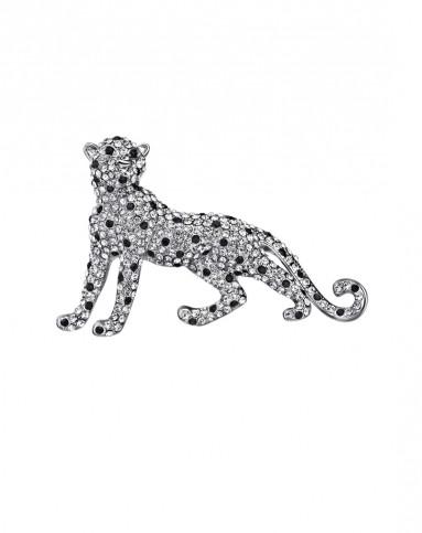 时尚可爱豹子胸针