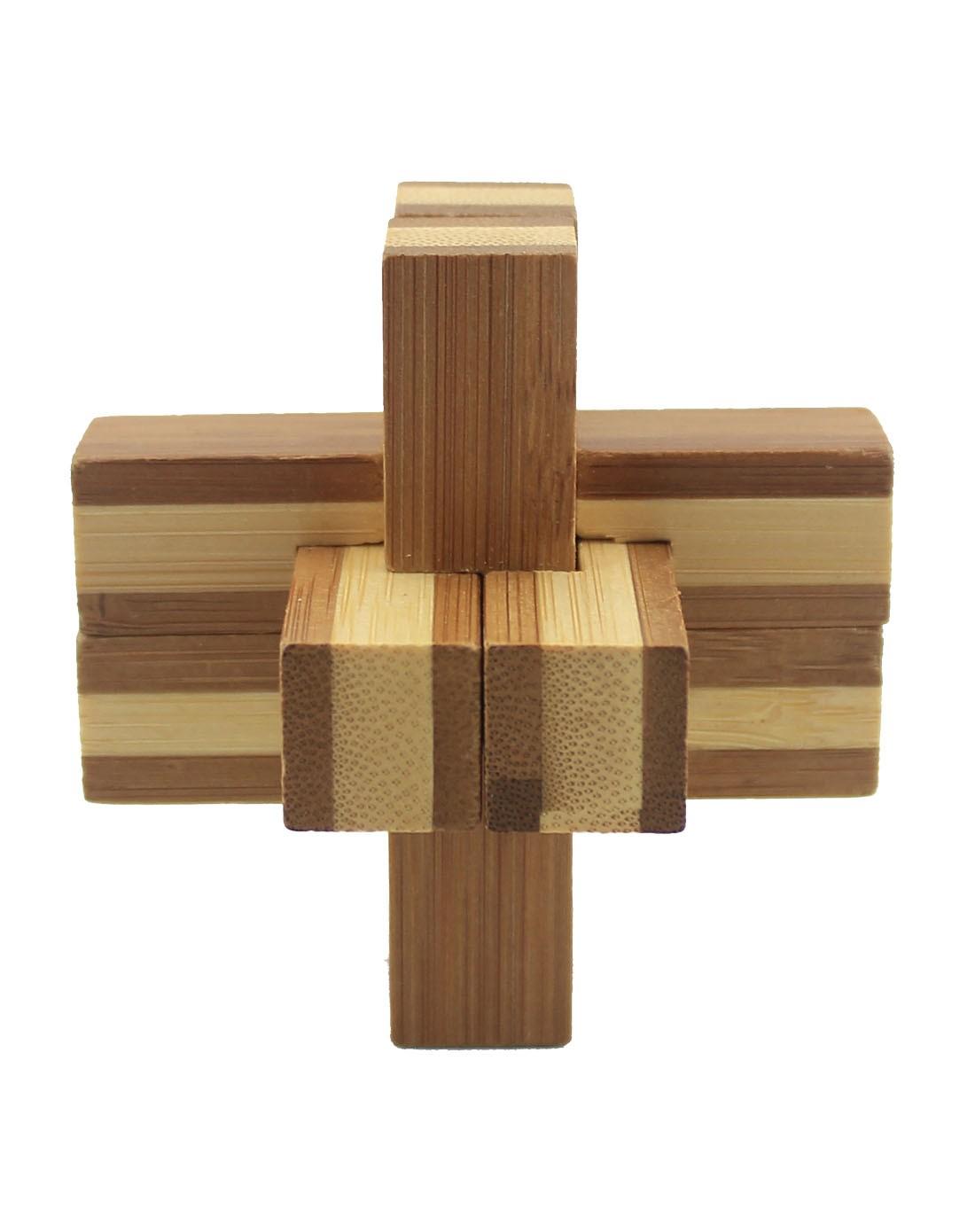 米米智玩 竹制六通孔明锁