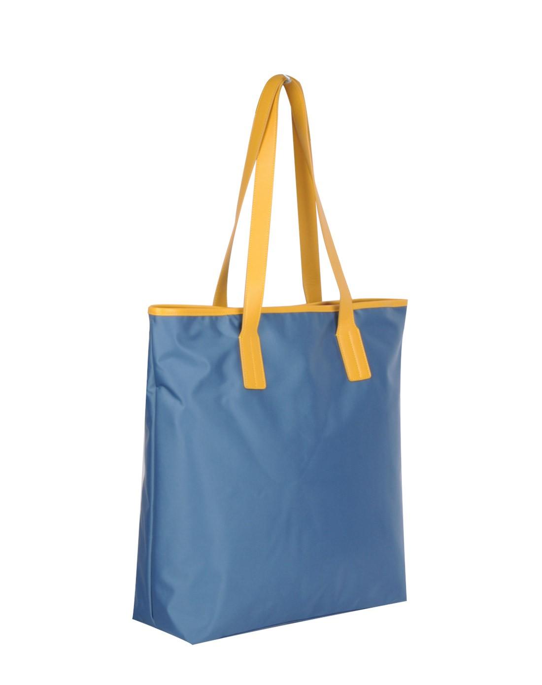 蓝色潜水图案手绘手提旅行单肩包