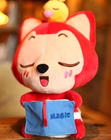 阿狸儿童箱包杂货专场小小梦想家毛绒玩具读书狸35cm