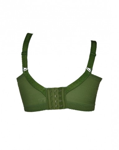绿色格纹绚丽非凡3/4厚杯文胸