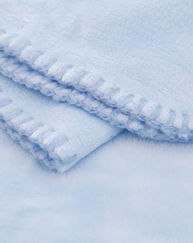 帕比奴蓝色超柔美素绒毛毯