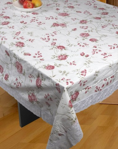 蕾丝花边玫瑰长方形台布149*225cm