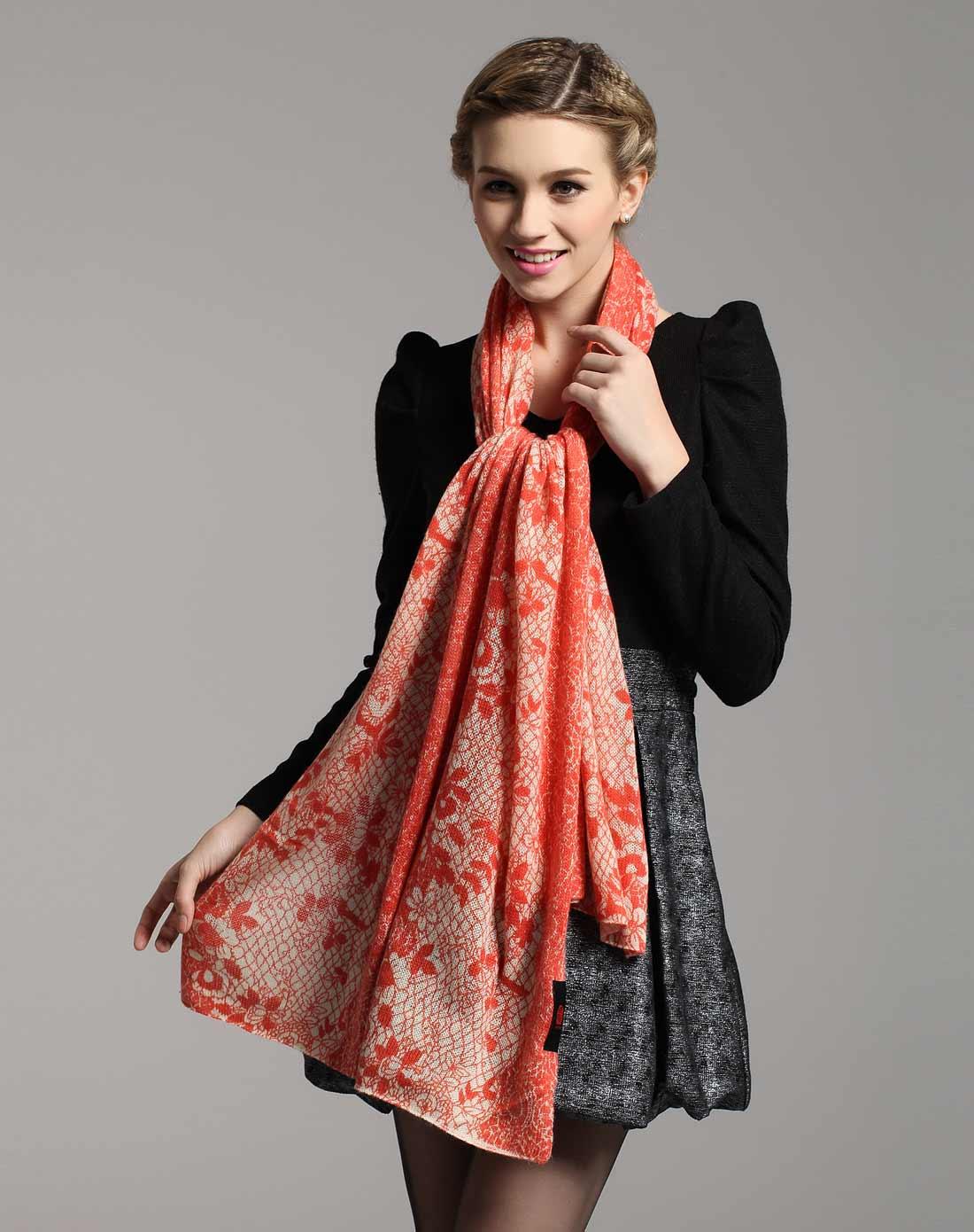 欧若拉公主针织羊绒披肩